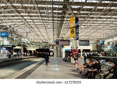 November 11, 2015: Perth Underground Train Station, which is located in Perth, Western Australia.