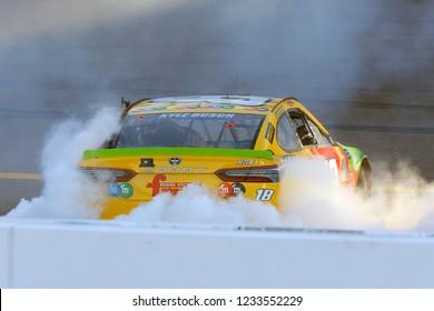 November 11, 2018 - Avondale, Arizona, USA: Kyle Busch (18) wins the Can-Am 500(k) at ISM Raceway in Avondale, Arizona.