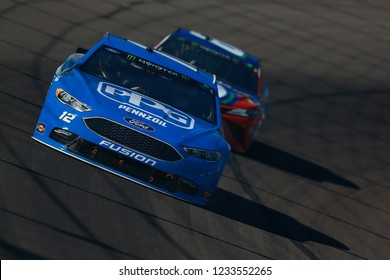 November 11, 2018 - Avondale, Arizona, USA: Ryan Blaney (12) races during the Can-Am 500(k) at ISM Raceway in Avondale, Arizona.