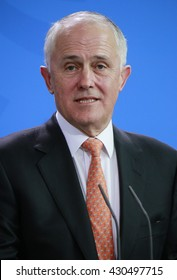 NOVEMBER 13, 2015 - BERLIN: Australian Prime Minister Malcolm Turnbull at a press conference after a meeting with the German Chancellor in the Federal Chanclery.