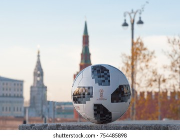 November 13, 2017 Moscow, Russia. The official ball of FIFA World Cup 2018 Adidas Telstar 18.