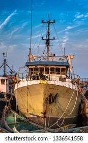 November 13,2018. Visakhapatnam,India. Abandoned Fishing boat or Trawler on the port of Vizag.