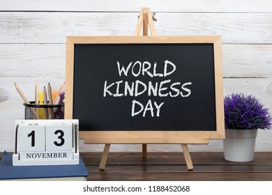 November 13th - World Kindness Day. Calendar event concept.