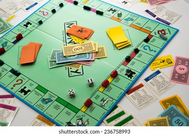 November 14, 2014.  Houston, TX, USA.  Illustrative Editorial.  Monopoly board game
