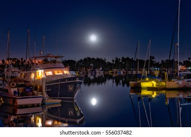 The November 14, 2016 super moon over the marina in Coronado, California.