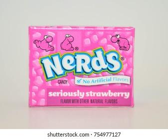 November 14, 2017 Norman, OK Bite size servings of strawberry nerds