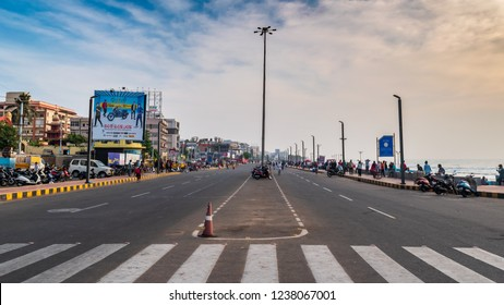 November 14 ,2018. Visakhapatnam, India. People doing various Healthy morning activities on the Beach Road at vizag.