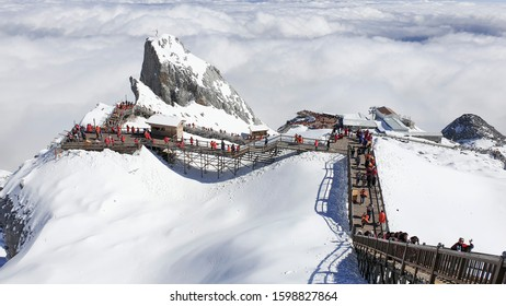 November 14th, 2019: High altitude Gracier at Jade Dragon Snow Mountain, Yunnan Province, China