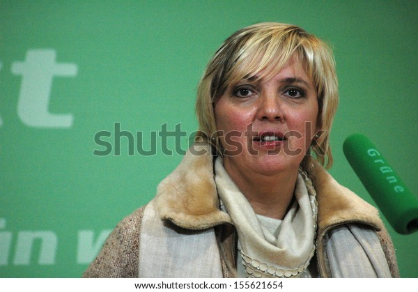 NOVEMBER 15, 2004 - BERLIN: Claudia Roth at a press conference of the Green Party in Berlin.