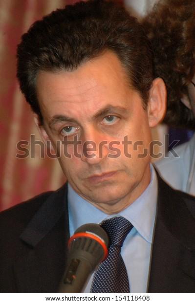 NOVEMBER 16, 2004 - BERLIN: Nicolas Sarkozy after a meeting with his German collegue in the Hotel Adlon, Berlin.