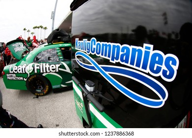 November 16, 2018 - Homestead, Florida, USA: The NASCAR Xfinity Series teams take to the track to practice for the Ford 300 at Homestead-Miami Speedway in Homestead, Florida.