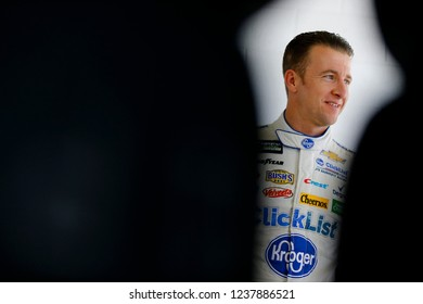 November 16, 2018 - Homestead, Florida, USA: AJ Allmendinger (47) hangs out in the garage during practice for the Ford 400 at Homestead-Miami Speedway in Homestead, Florida.
