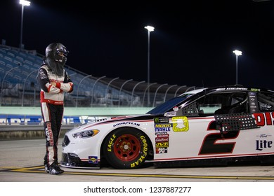 November 16, 2018 - Homestead, Florida, USA: Brad Keselowski (2) gets ready to qualify for the Ford 400 at Homestead-Miami Speedway in Homestead, Florida.