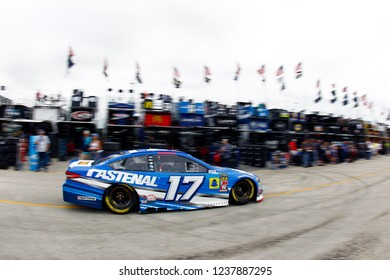 November 16, 2018 - Homestead, Florida, USA: Ricky Stenhouse, Jr (17) takes to the track to practice for the Ford 400 at Homestead-Miami Speedway in Homestead, Florida.