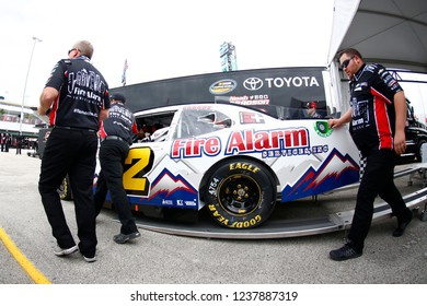November 16, 2018 - Homestead, Florida, USA: The NASCAR Xfinity Series teams take to the track for the Ford 300 at Homestead-Miami Speedway in Homestead, Florida.