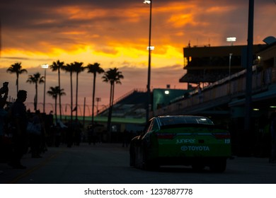 November 16, 2018 - Homestead, Florida, USA: Brandon Jones (19) heads in from practice for the Ford 300 at Homestead-Miami Speedway in Homestead, Florida.