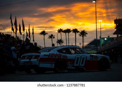 November 16, 2018 - Homestead, Florida, USA: Cole Custer (00) heads in from practice for the Ford 300 at Homestead-Miami Speedway in Homestead, Florida.