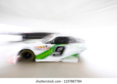 November 16, 2018 - Homestead, Florida, USA: Tyler Reddick (9) heads out to practice for the Ford 300 at Homestead-Miami Speedway in Homestead, Florida.