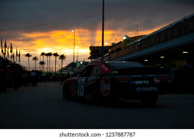 November 16, 2018 - Homestead, Florida, USA: Ryan Preece (18) heads in from practice for the Ford 300 at Homestead-Miami Speedway in Homestead, Florida.