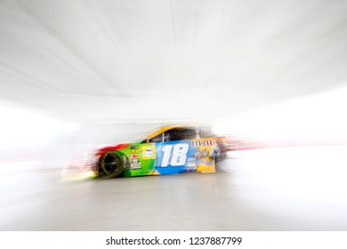November 16, 2018 - Homestead, Florida, USA: Kyle Busch (18) heads out to practice for the Ford 400 at Homestead-Miami Speedway in Homestead, Florida.