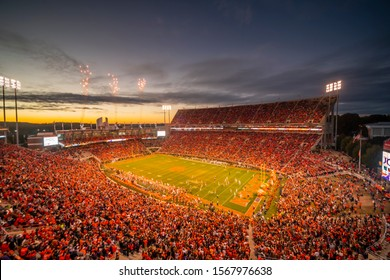 November 16, 2019 - Clemson, South Carolina, USA: The Clemson Tigers play host to the Wake Forest Demon Deacons at Memorial Stadium in Clemson, South Carolina.