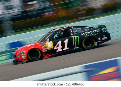November 17, 2018 - Homestead, Florida, USA: Kurt Busch (41) brings his race car down the front stretch during practice for the Ford 400 at Homestead-Miami Speedway in Homestead, Florida.