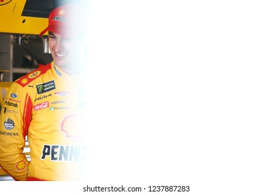 November 17, 2018 - Homestead, Florida, USA: Joey Logano (22) gets ready to practice for the Ford 400 at Homestead-Miami Speedway in Homestead, Florida.