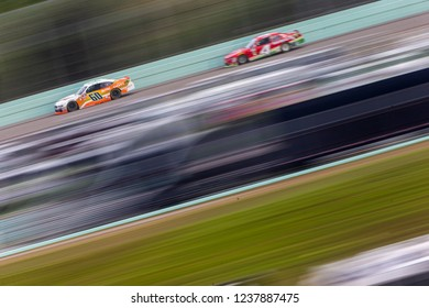 November 17, 2018 - Homestead, Florida, USA: Chase Briscoe (60) races down the back stretch during the Ford 300 at Homestead-Miami Speedway in Homestead, Florida.