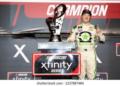 November 17, 2018 - Homestead, Florida, USA: Tyler Reddick (9) wins the the 2018 Xfinity Championship at Homestead-Miami Speedway in Homestead, Florida.