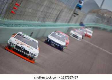 November 17, 2018 - Homestead, Florida, USA: Chase Briscoe (60) races down the front stretch during the Ford 300 at Homestead-Miami Speedway in Homestead, Florida.