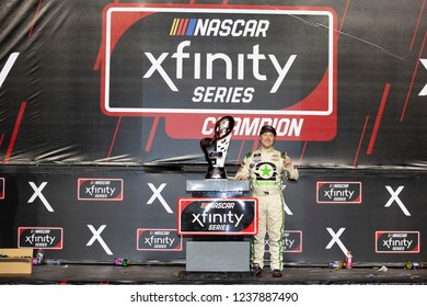 November 17, 2018 - Homestead, Florida, USA: Tyler Reddick (9) wins the the 2018 Xfinity Championship at Homestead-Miami Speedway in Homestead, Florida.