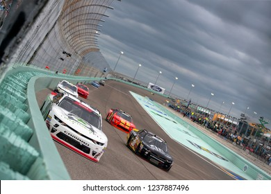 November 17, 2018 - Homestead, Florida, USA: Tyler Reddick (9) races down the front stretch during the Ford 300 at Homestead-Miami Speedway in Homestead, Florida.