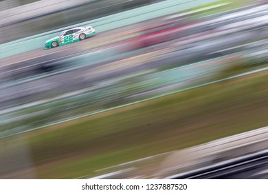 November 17, 2018 - Homestead, Florida, USA: Austin Cindric (22) races down the back stretch during the Ford 300 at Homestead-Miami Speedway in Homestead, Florida.