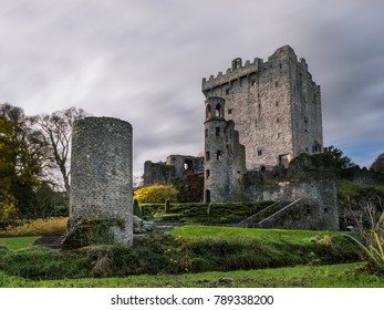 November 17th, 2017, Blarney, Ireland - The famous Blarney Castle, a medieval stronghold in Blarney, near Cork, Ireland, and the River Martin. color saturation