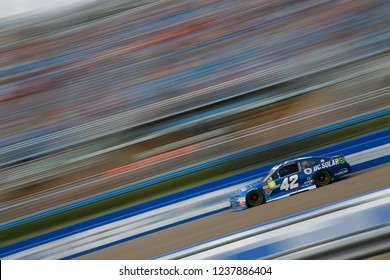 November 18, 2018 - Homestead, Florida, USA: Kyle Larson (42) races during the Ford 400 at Homestead-Miami Speedway in Homestead, Florida.