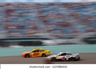 November 18, 2018 - Homestead, Florida, USA: Joey Logano (22) races during the Ford 400 at Homestead-Miami Speedway in Homestead, Florida.