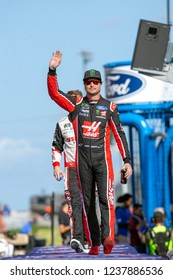 November 18, 2018 - Homestead, Florida, USA: Kurt Busch (41) takes to the stage for driver introductions at the Ford 400 at Homestead-Miami Speedway in Homestead, Florida.