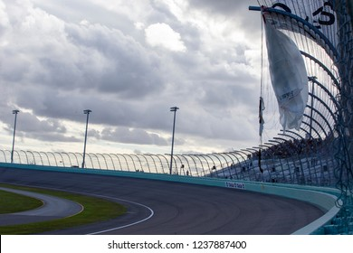 November 18, 2018 - Homestead, Florida, USA: The Monster Energy NASCAR Cup Series teams take to the track for the Ford 400 at Homestead-Miami Speedway in Homestead, Florida.
