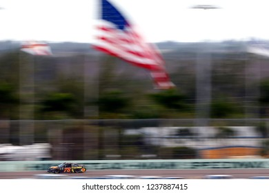 November 18, 2018 - Homestead, Florida, USA: Martin Truex, Jr (78) races down the back stretch during the Ford 400 at Homestead-Miami Speedway in Homestead, Florida.