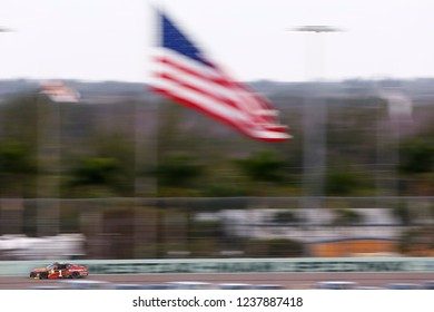 November 18, 2018 - Homestead, Florida, USA: Jamie McMurray (1) races down the back stretch during the Ford 400 at Homestead-Miami Speedway in Homestead, Florida.