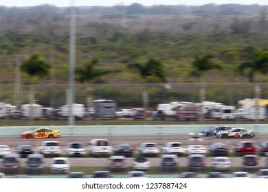 November 18, 2018 - Homestead, Florida, USA: Joey Logano (22) races down the back stretch during  the Ford 400 at Homestead-Miami Speedway in Homestead, Florida.