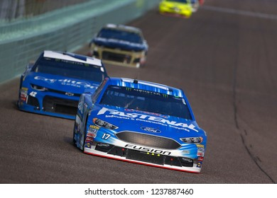 November 18, 2018 - Homestead, Florida, USA: Ricky Stenhouse, Jr (17) races down the front stretch during  the Ford 400 at Homestead-Miami Speedway in Homestead, Florida.