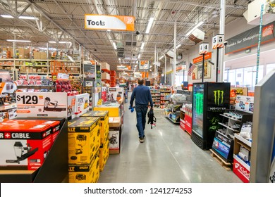 November 19, 2018 - Home Depot in Roseburg, Oregon, USA. Consumer shopping for goods.