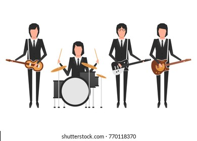 November 19.2017 . Editorial illustration of the Beatles . World Beatles Day on January 16th topic.