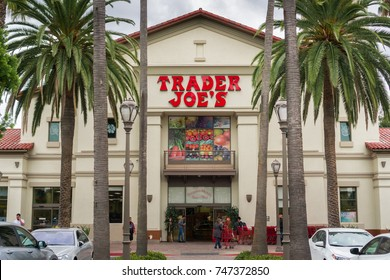 November 2, 2017 Sunnyvale/CA/USA - Entrance to one of the Traders Joe's supermarkets located in San Francisco bay area