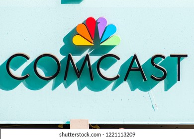 November 2, 2018 Sunnyvale / CA / USA - Comcast logo in front of their offices located in Silicon Valley; south San Francisco bay area