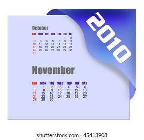November of 2010 Calendar