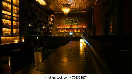 November 2012: Photo from speak easy bar interor, San Francisco, California, United States of America