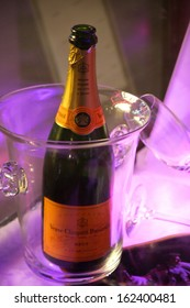 "NOVEMBER 2013 - BERLIN: brands: Champagne of the brand ""Verve Clicquot"", Berlin."