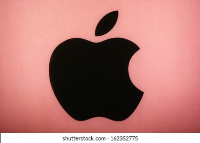 "NOVEMBER 2013 - BERLIN: brands: the logo of the technology company ""Apple"", Berlin."